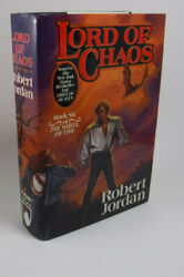 True 1st/1st Signed Wheel Of Time Lord Of Chaos By Robert Jordan