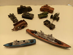 Military Tootsie Toys With Barclay Matchbox And Zylmex
