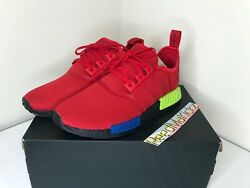 Adidas Nmd R1 Multicolor Red Blue Yellow Mens Fv5258