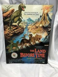 Vtg 1989 The Land Before Time Vhs Movie Pizza Hut Cardboard Display Unused Rare