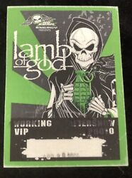 Lamb Of God 2000 Music Tour Backstage Pass All Access Vip Cloth Heavy Metal Rock