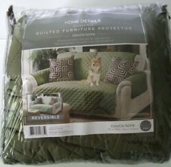 Home Details-reversible Quilted Furniture Protector Couch/sofa 75x110 New