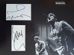 Liam And Noel Gallagher Signed 16x12 Photo Display Oasis Coa