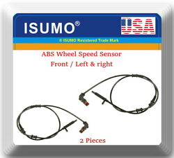 2 X Abs Wheel Speed Sensor Front L And R Fits Oema1669054002 Mercedes 2014-2019