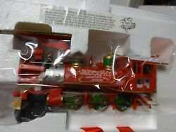 Hawthorne Village Christmas Locomotive And Tender Rudolph's Train Moved To Auction