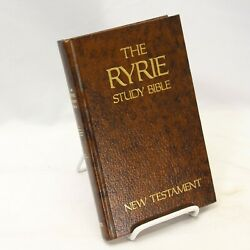 1976 Moody Ryrie Study Bible New Testament Bible Leather
