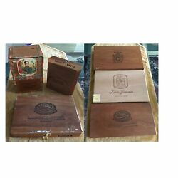 Group Of 6 Vintage Wood Boxes    2 Cigar Boxes