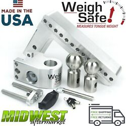 Weigh Safe 10 Drop Hitch W| 2 And 2-5|16 Stainless Steel Balls And 2.5 Shaft