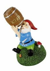 Gnometastic Beer Guzzling Garden Gnome Statue - Indoor/outdoor Funny Lawn Gnome