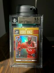 Pascal Siakam Gold /10 Rookie Kings. Bgs 9.5andtimes4 True Gem. Optic Holo First Yr.