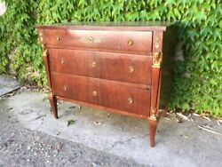 Return Of Egypt Empire Chest Of Drawers In Mahogany - Restored In Progress