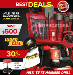Hilti Te 75 Hammer Drill Preowned Free Roller Seat L@@k Good Fast Shipping