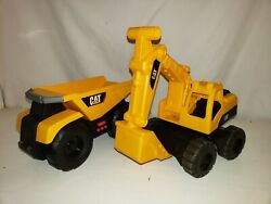 Toy Backhoe And Dump Truck Cat