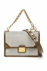 Fendi Kan U White Leather Bag - Authentic And Brand New In Box