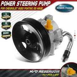 Power Steering Pump W/ Pulley For Chevrolet Aveo Pontiac G3 Wave L4 1.6l 20-806