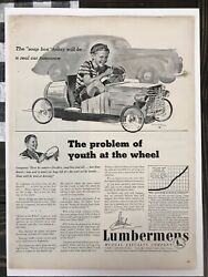 1940 Lumbermens Mutual Vintage Ad The Soap Box Today Will Be The Real Car....