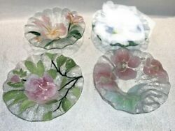 3 Nice Classic Sydenstricker Fused Glass Small Flower Bowls / Dishes Cape Cod