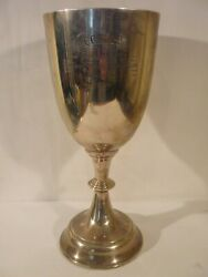 Solid Silver A.e.daniel Cup Swimming/diving Club Swansea Town 1924 407grams.