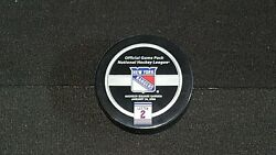 Brian Leetch Jersey Retirement Night Official Game Puck New York Rangers Nhl