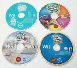 Hasbro Family Game Night 1 2 3 4 Nintendo Wii Board Party Show Games Lot Kids