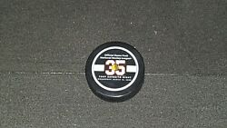 Tony Esposito Jersey Retirement Night Official Game Puck Chicago Blackhawks Nhl