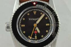 Vintage Vdb Automatic Menand039s Watch 1 13/16in Very Rarely Rar Single Piece