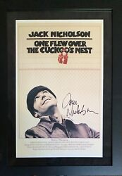 Rare Jack Nicholson Signed One Flew Over The Cuckoos Nest Poster Framed Acoa