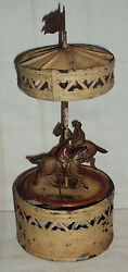 Guntherman German Horse Carousel Tinplate Toy 1890 Very Old Vintage Collectible