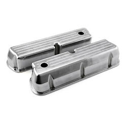 Ford Sb 289 302 351 Windsor Polished Alum. Ball Milled Valve Covers Tall W/hole