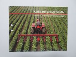 Case Ih Row Crop Cultivators And Rotary Hoes Brochure, 8 Pages, Good Condition