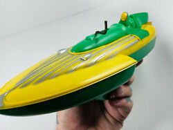 Vintage 1950's Ideal Toy So-moshun Friction Speed Boat Works Great