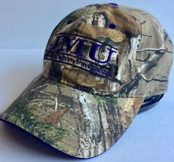 James Madison University Dukes Strapback Dad Hat Cap Camo Adult Size $12.78
