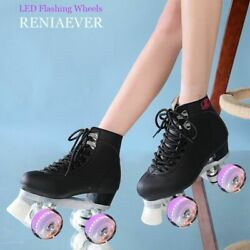Roller Skates Double Line Women Adult With Led Lighting 4 Wheels Two Line Shoes