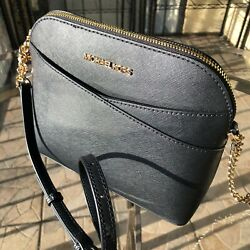 Michael Kors Women Lady Leather Black Crossbody Bag Handbag Messenger Purse MK $100.77