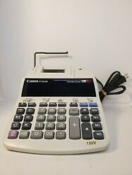 Canon P170-dh 12 Digit 10 Key Adding Machine With Clock And Calender