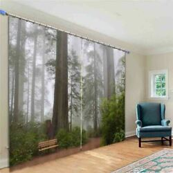 Woods Grey Confused 3d Curtain Blockout Photo Printing Curtains Drape Fabric