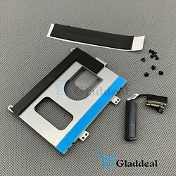 New Hard Drive Interposer Cable + Bracket Caddy Rubber For Dell M15 M15 W/screws