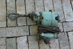 Vintage Early Electric Motor Hand Held Kitchen Mixer Egg Beater