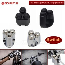 22mm 25mm Triple Button Hand Control Momentary Switch Turn Signal Light Switch