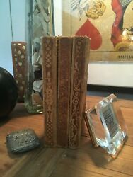 1899-1900 Collectible Soft Leather Embossed Rare Books Motifs Cicero John Brown
