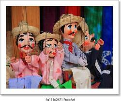 Mexicanand039s Puppet Art Print / Canvas Print. Poster Wall Art Home Decor - C