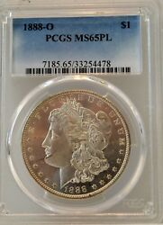 1888-o 1 Morgan Silver Dollar Proof Like - Pcgs Ms65pl