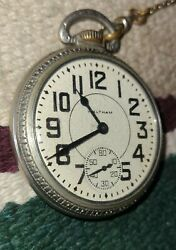 Waltham 1617 Pocket Watch. Made In 1943. 17 Jewel. Runs And Keeps Time