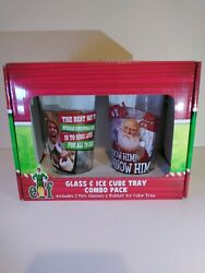 Elf Glass And Ice Cube Tray Combo Pack - 2 Pint Glasses And Rubber Ice Tray R1/s2