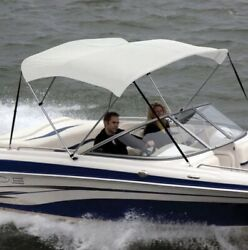 """Shademate Bimini Sunbrell Top Fab And Boot,3bow,36h,6'l,79-84""""w-ov80214aw Natural"""