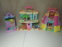 Vintage Sweet Streets Doll House Lot Of 3 Country County Fair Beach House Resort