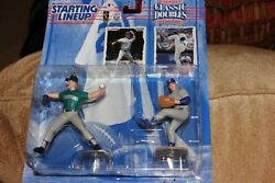 Nolan Ryan And Randy Johnson Classic Doubles Starting Lineup New In Box