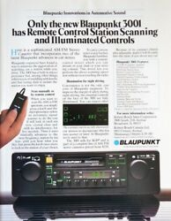 Blaupunkt 3001 Car Stereo Remote Control Station Scanning Vintage Print Ad 80s