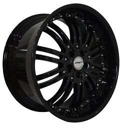 4 G22 Narsis 20 Inch Black Rims Fits Jeep Grand Cherokee Limited 2014-2019