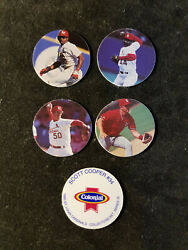 5 1995 Colonial Iron Kids Bread Pogs Cardinals 4 different RARE